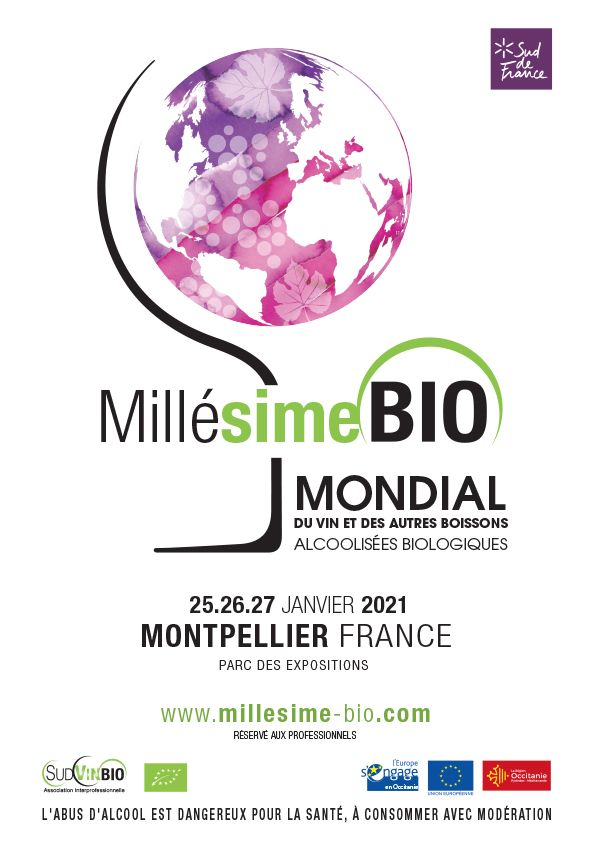Calendrier Salon Des Vins 2021 Millésime Bio revient du 25 au 27 janvier 2021 – Revue Vinicole